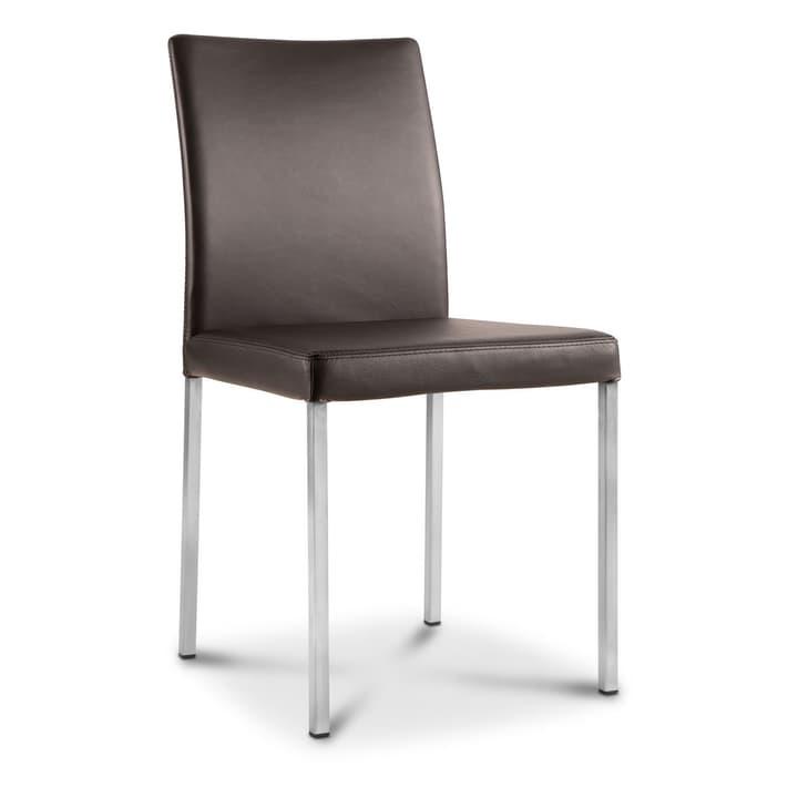 MARK Chaise en cuir 366053500000 Dimensions L: 46.0 cm x P: 41.0 cm x H: 88.0 cm Couleur Brun foncé Photo no. 1
