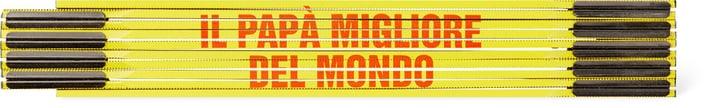 """Klappmeter """"IL PAPÀ MIGLIORE DEL MONDO"""", GELB/ROT"""" 603689600000 Bild Nr. 1"""