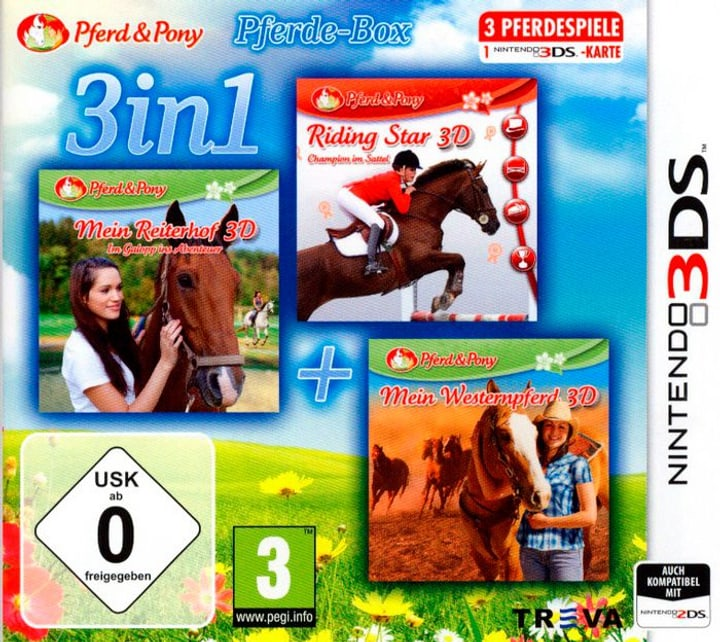 3DS - 3in1: Das Pferde-Bundle Box 785300122416 Photo no. 1