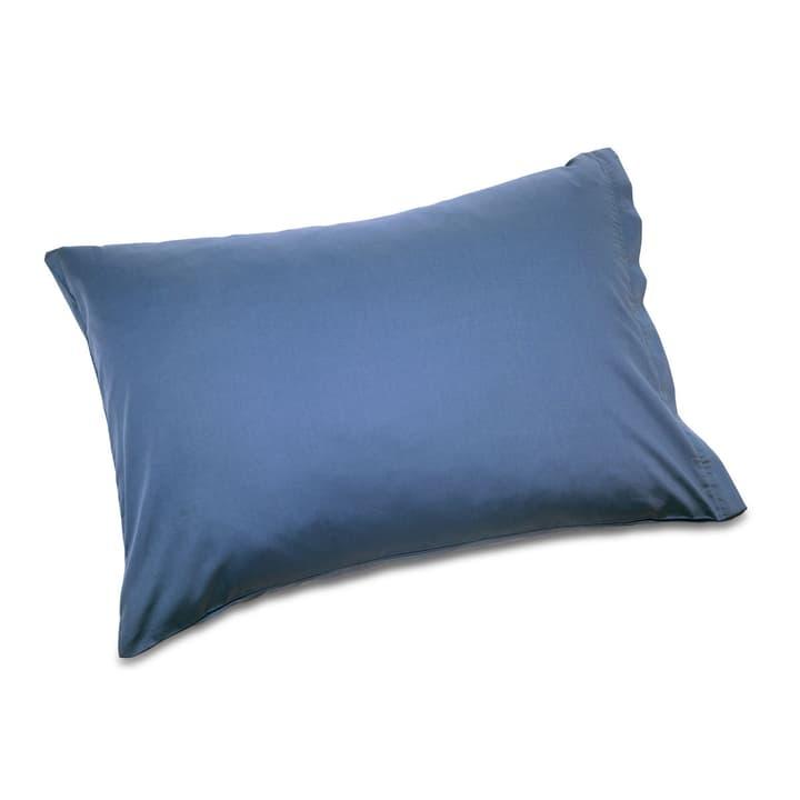 KOS Taie d'oreiller Satin 376010271403 Couleur Bleu jeans Dimensions L: 100.0 cm x L: 65.0 cm Photo no. 1