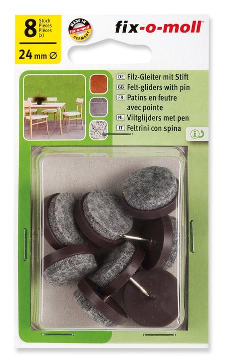 Piedini di feltro con chiodo 4 mm / Ø 24 mm 8 x Fix-O-Moll 607069900000 N. figura 1