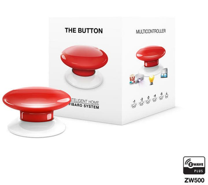 Z-Wave Button rot Intelligenter Schalter Fibaro 785300132235 Bild Nr. 1