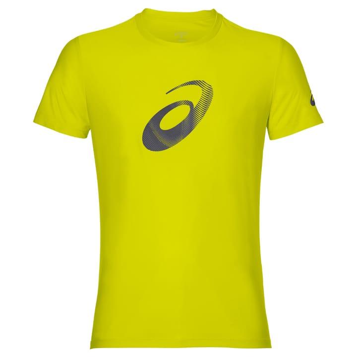 GRAPHIC SS TOP Shirt pour homme Asics 470146100455 Couleur jaune néon Taille M Photo no. 1
