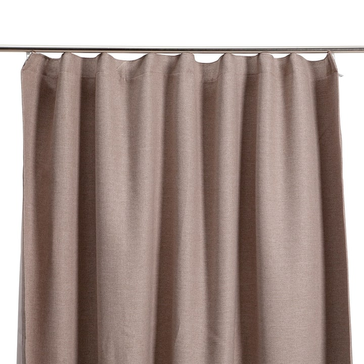 UNITO Rideau prêt à poser blackout 372057000000 Couleur Taupe Dimensions L: 140.0 cm x H: 250.0 cm Photo no. 1
