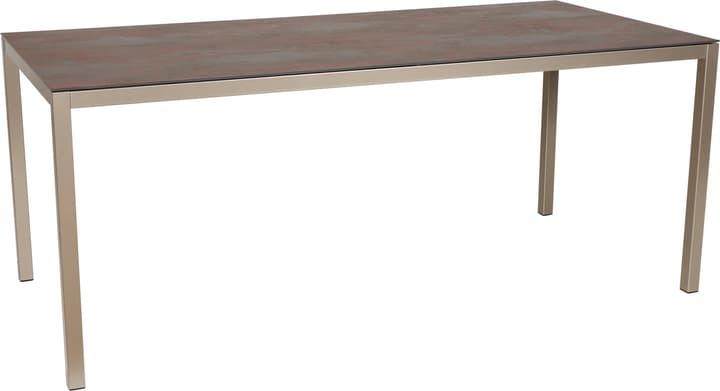 LOCARNO, struttura acciaio, piano Ceramica Tavolo 753192814020 Taglio L: 140.0 cm x L: 80.0 cm x A: 74.0 cm Colore Dark Night N. figura 1