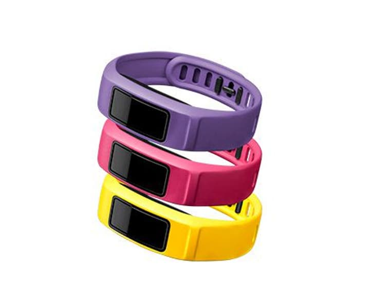 Vivofit 2 bracelet Small jaune canari, rose, violet Garmin 785300125465 Photo no. 1