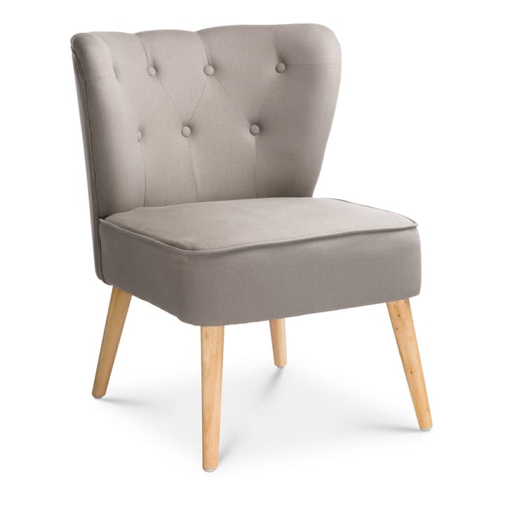 POPPY II Sessel 360520807080 Grösse B: 62.0 cm x T: 60.0 cm x H: 80.0 cm Farbe Grau Bild Nr. 1