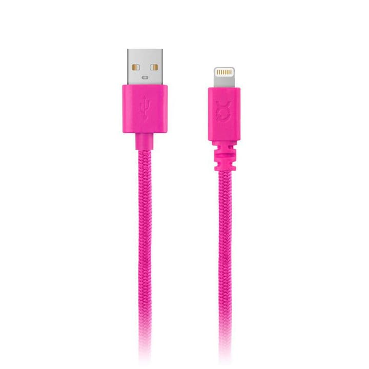 Cotton Cable Lightning pink Kabel XQISIT 798301000000 Bild Nr. 1