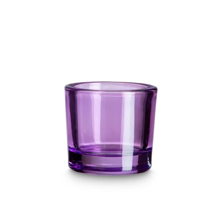 BUNT Teelichthalter 396082200000 Grösse B: 6.5 cm x T: 6.5 cm x H: 5.8 cm Farbe Lila Bild Nr. 1
