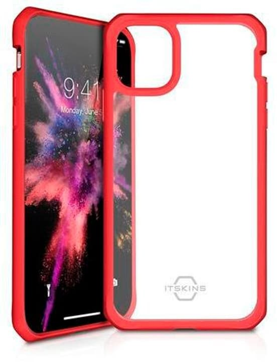 Hard Cover HYBRID SOLID plain red transparent Coque ITSKINS 785300149363 Photo no. 1