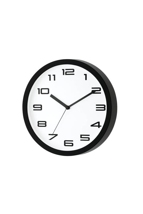 WALL CLOCK Orologio a parete 440610502510 Colore Bianco / Nero Dimensioni A: 25.0 cm N. figura 1