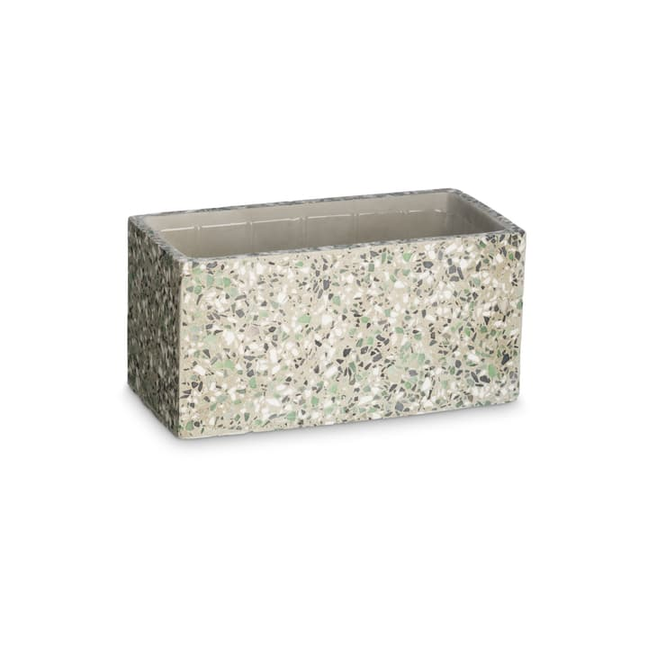 TERRAZZO Cache-pot 382106900000 Dimensions L: 23.0 cm x P: 12.0 cm x H: 11.0 cm Couleur Vert Photo no. 1