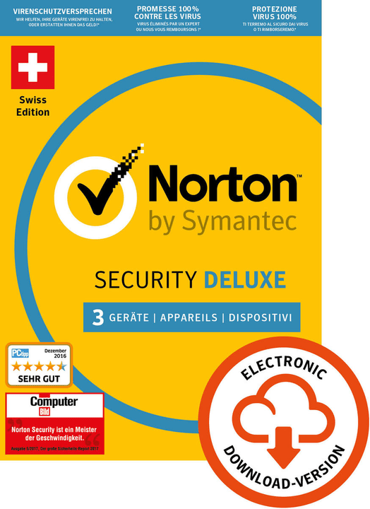 Norton Security Deluxe 3.0 3 User 1 Year PC/Mac/Andorid/iOS Digital (ESD) Norton 785300133668 Bild Nr. 1