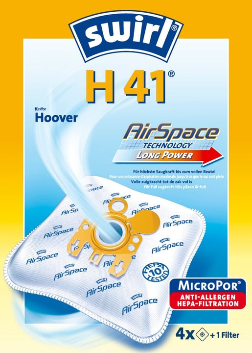 H41 AirSpace Staubsauger-Staubbeutel Swirl 717104000000
