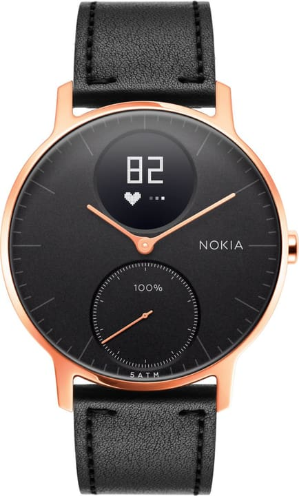 Steel HR (36mm) Rose Gold / Black Leather + Black Silicone Wristband Special Edition Nokia 785300134673 N. figura 1