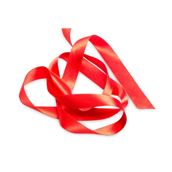 KIKILO Satinband 25mm x 10m 386112700000 Farbe Rot Grösse B: 1000.0 cm x T: 2.5 cm x H: 0.1 cm Bild Nr. 1
