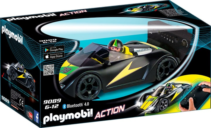 Playmobil Action Voiture de course noire radiocommandée  9089 746079200000 Photo no. 1