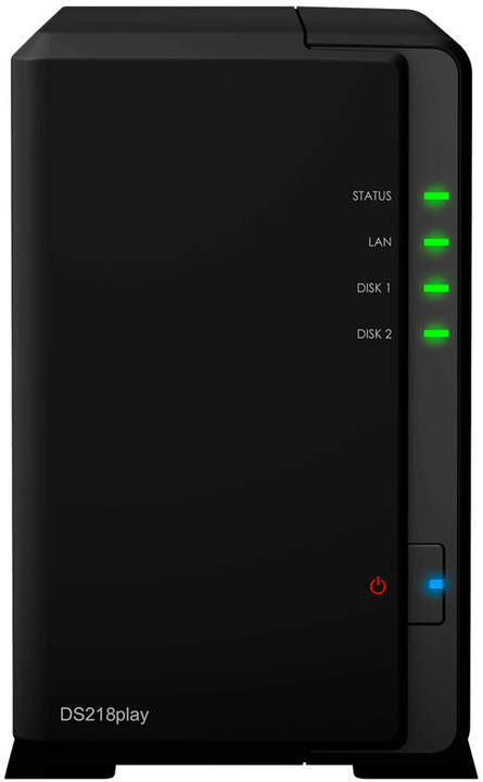 DiskStation DS218play mit 2x 3TB Seagate Ironwolf Network-Attached-Storage (NAS) Synology 785300131389 Bild Nr. 1