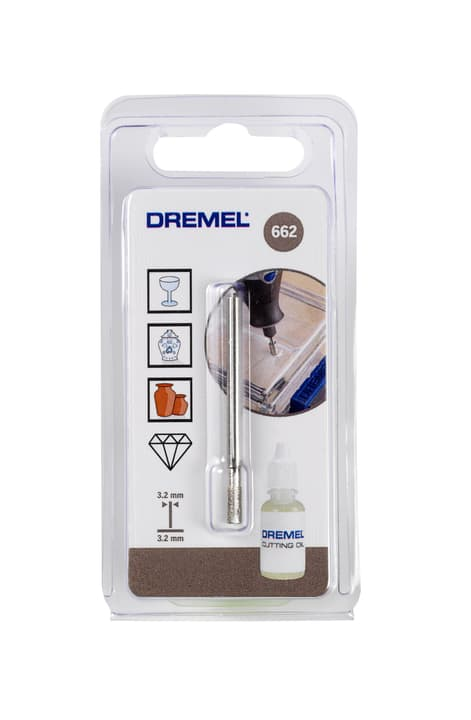 Foret pour verre 3,2 mm (662) Dremel 616103500000 Photo no. 1