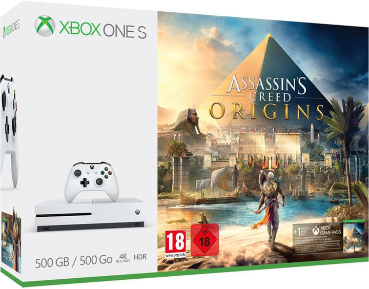 Xbox One S 500GB incl. Assassin's Creed Origins Microsoft 785437900000 N. figura 1