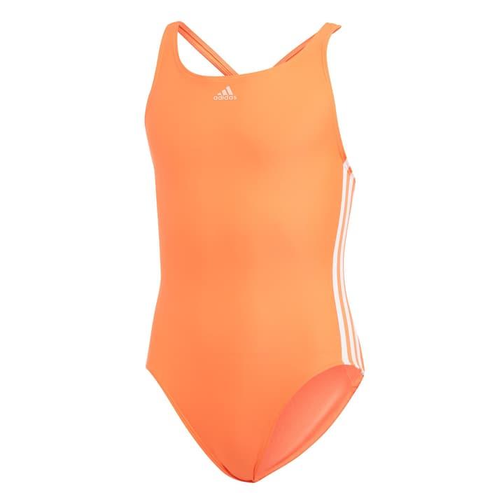 Athly V 3-Stripe Swimsuit Mädchen-Badeanzug Adidas 466937615257 Farbe koralle Grösse 152 Bild-Nr. 1