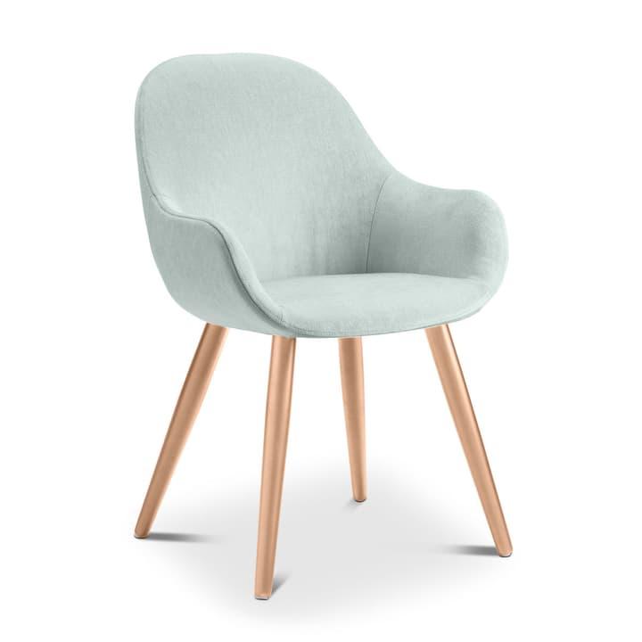 LAYLA Chaise Evita 366027708013 Dimensions L: 56.0 cm x P: 60.0 cm x H: 84.0 cm Couleur Turquoise Photo no. 1