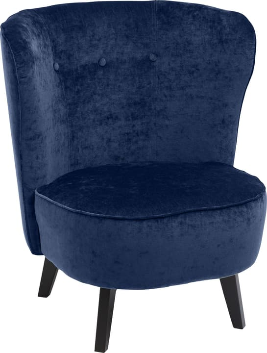GOETHE Fauteuil 402461507040 Dimensions L: 78.0 cm x P: 77.0 cm x H: 84.0 cm Couleur Bleu Photo no. 1