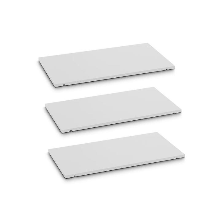 SEVEN Ripiano set da 3 60cm Edition Interio 362019649601 Dimensioni L: 60.0 cm x P: 1.4 cm x A: 35.5 cm Colore Bianco N. figura 1
