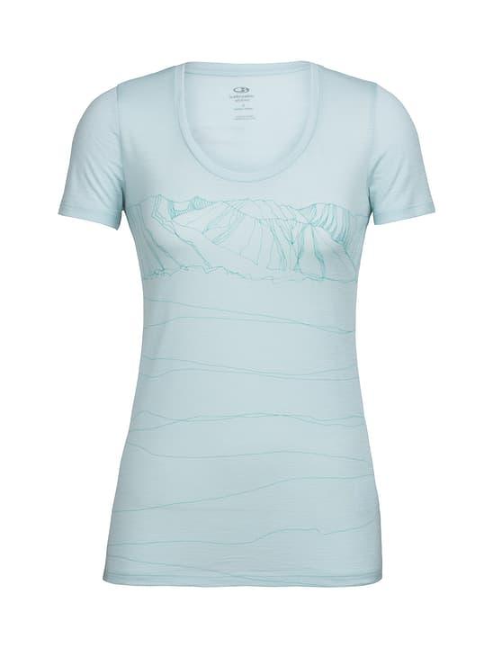 Paths T-shirt à manches courtes pour femme Icebreaker 462783600525 Couleur aqua Taille L Photo no. 1