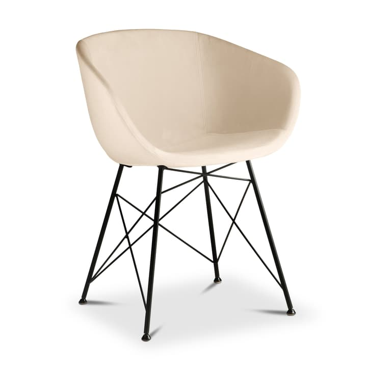 SEDIA Chaise avec accoudoirs 366183400000 Dimensions L: 45.0 cm x P: 58.0 cm x H: 81.0 cm Couleur Crème Photo no. 1