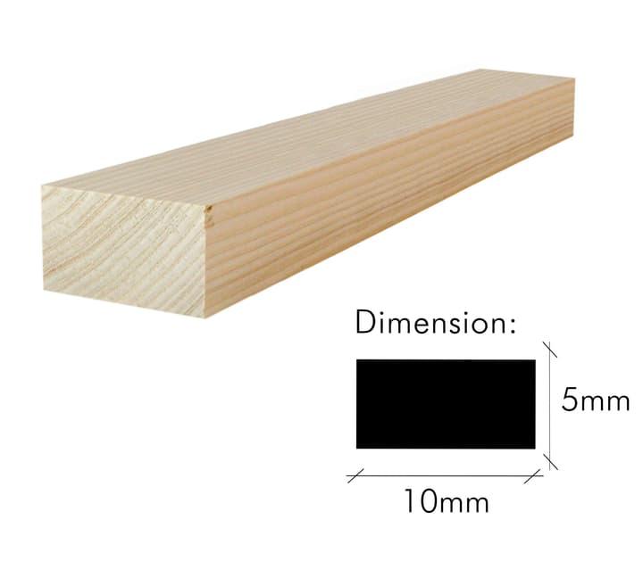 Tannenleiste gehobelt HolzZollhaus 644000110000 Länge L: 1.0 m Dimensionen 5 x 10mm Bild Nr. 1