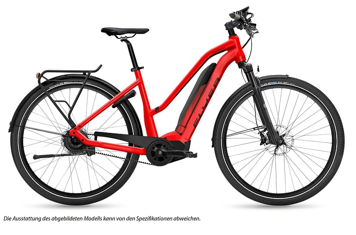 """Upstreet5 7.10 Damen 28"""" E-Trekkingbike FLYER 463319400530 Rahmengrösse L Farbe rot Bild Nr. 1"""