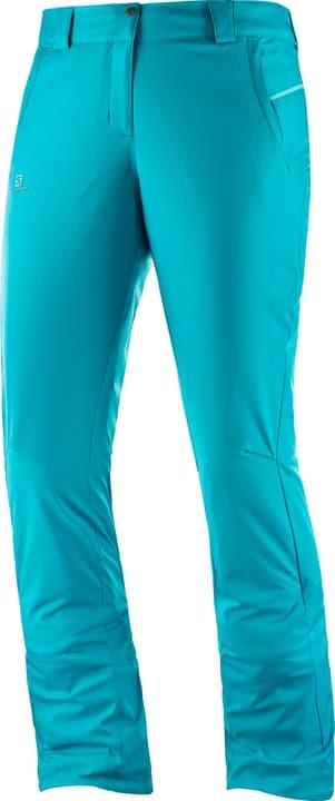 Stormseason Pant W Pantalone da sci da donna Salomon 462539500544 Colore turchese Taglie L N. figura 1