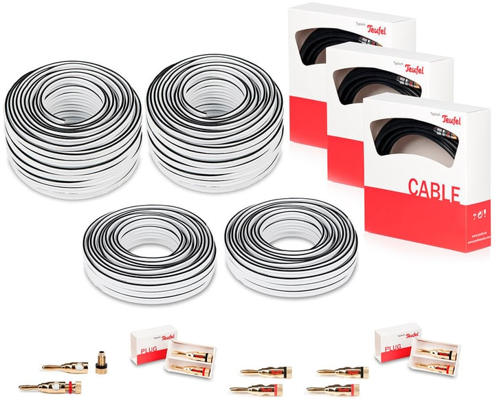 """5.1.4 50m² """"ATMOS"""" Heimkino Kabel-Set Audio Kabel Teufel 785300138187 Bild Nr. 1"""