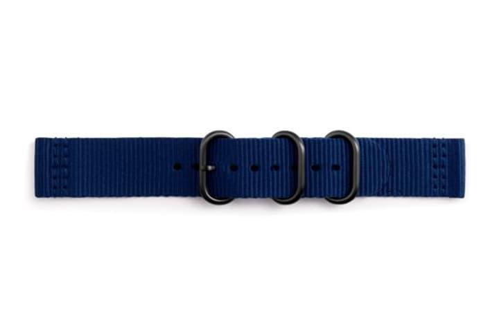 Galaxy Watch (42 mm) Strap Studio Premium Nato Strap 20 mm bleu Bracelet Samsung 785300138265 Photo no. 1
