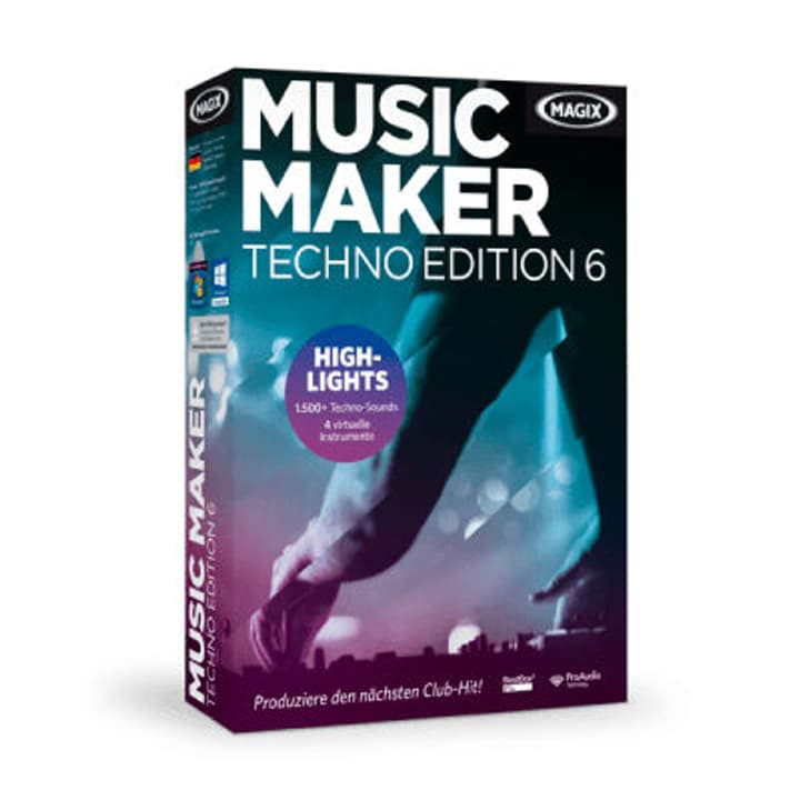 Music Maker Techno Edition 6 PC (D/F/I/E) Digital (ESD) Magix 785300133261 Bild Nr. 1
