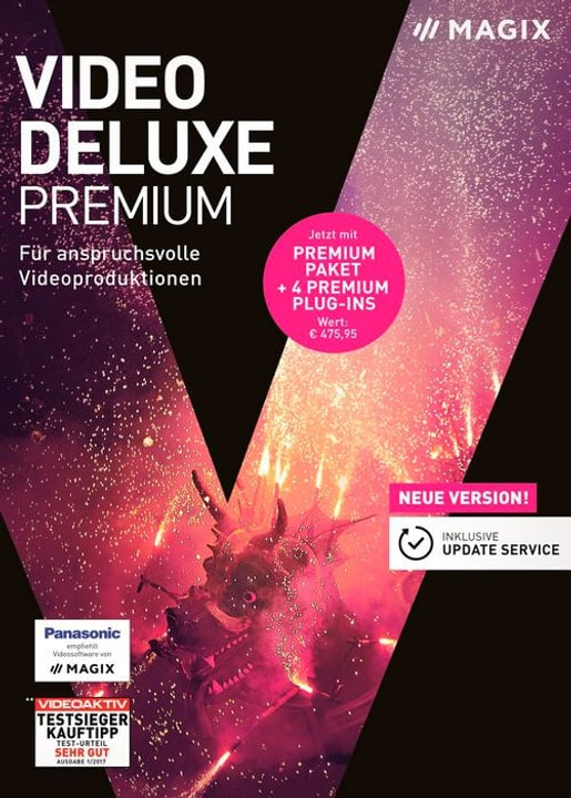PC - Video deluxe 2018 Premium (D) Physisch (Box) Magix 785300129428 Bild Nr. 1