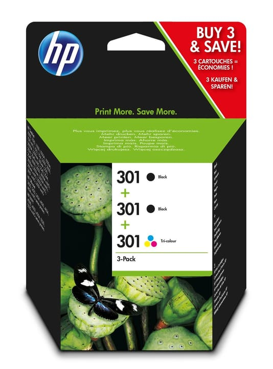 Combopack 301 3er-Pack / 2x nero, 1x color HP 798538800000 N. figura 1