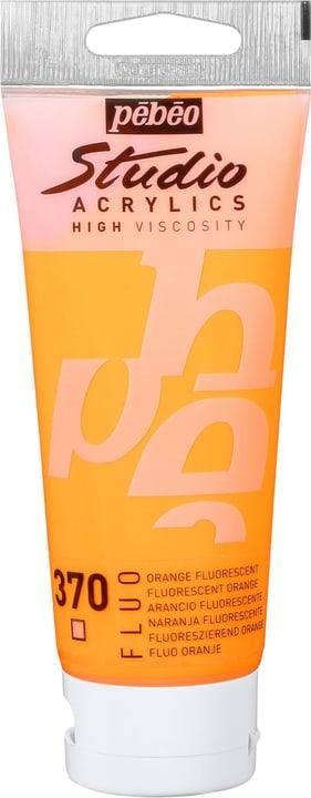 Acrylic St 100ml arancio fluo Pebeo 663405500000 Colore Arancio Fluo N. figura 1