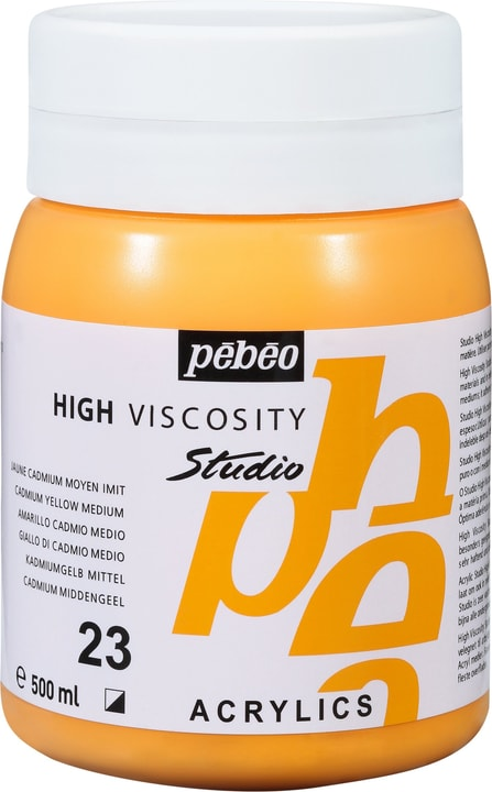 Pébéo High Viscosity Studio 500ml Pebeo 663534271023 Couleur Jaune Cad. Moyen Photo no. 1