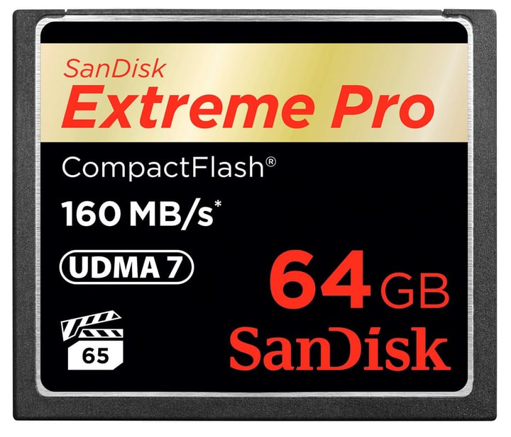 ExtremePro 160MB/s Compact Flash 64GB SanDisk 785300124250 Photo no. 1