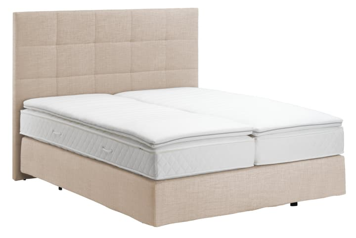 NAVIER Lit Boxspring 403484700000 Couleur Écru Dimensions L: 160.0 cm x P: 200.0 cm Photo no. 1