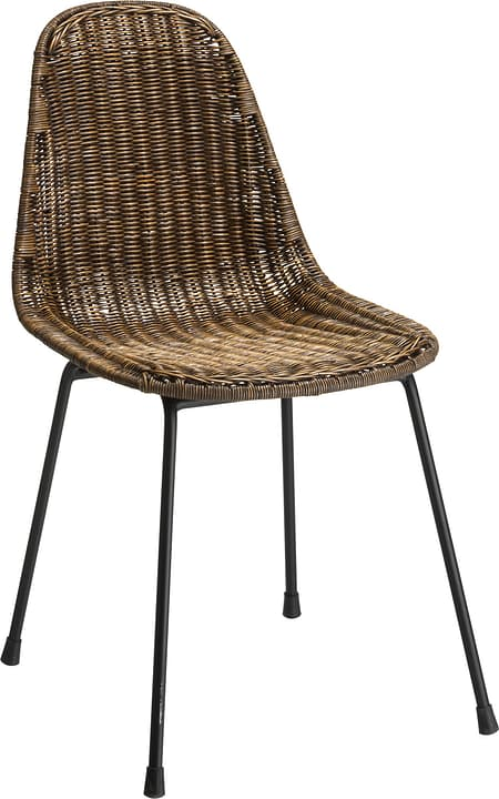 ZENGA Chaise 402354400070 Dimensions L: 47.0 cm x P: 57.0 cm x H: 80.0 cm Couleur Marron Photo no. 1