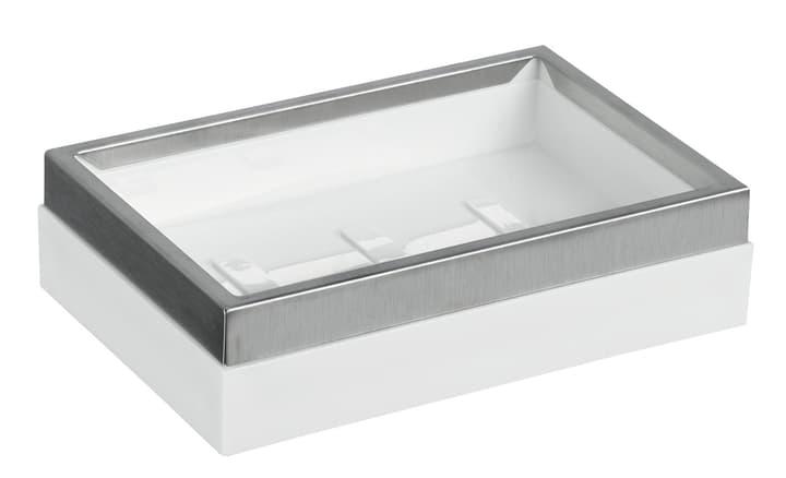 Seifenschale Ironclad diaqua 675552600000 Farbe Weiss-Silber Grösse 12 X 8 X 3 CM Bild Nr. 1