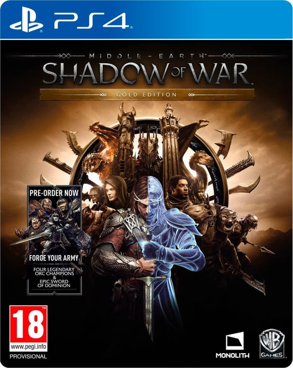 PS4 - Middle-Earth Shadow of War - Gold Edition Physique (Box) 785300122360 Photo no. 1