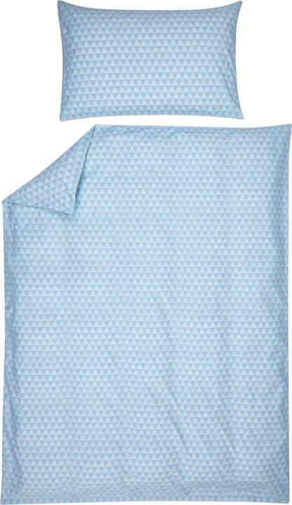 JIMENA Fourre de duvet en percale 451192412541 Couleur Bleu clair Dimensions L: 200.0 cm x H: 210.0 cm Photo no. 1