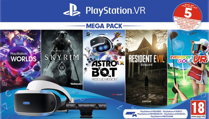 PS4 Virtual Reality Megapack 2 inkl. 5 Games Bundle Sony 785538700000 N. figura 1