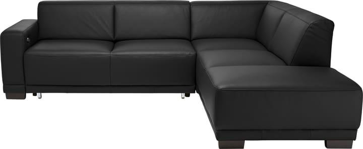 KRÜGER Canapé d'angle 405722500000 Dimensions L: 266.0 cm x P: 220.0 cm x H: 77.0 cm Couleur Noir Photo no. 1