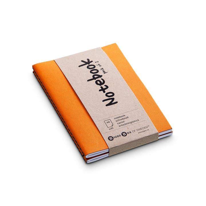 NOTE Carnet 2 pieces A6 386159600000 Couleur Orange Dimensions L: 15.0 cm x P: 10.5 cm Photo no. 1
