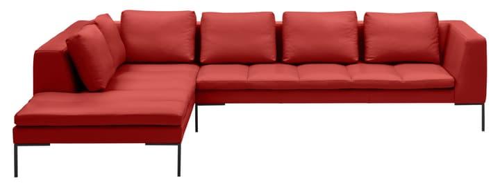 BADER Canapé d'angle 405686150730 Dimensions L: 319.0 cm x P: 230.0 cm x H: 80.0 cm Couleur Rouge Photo no. 1